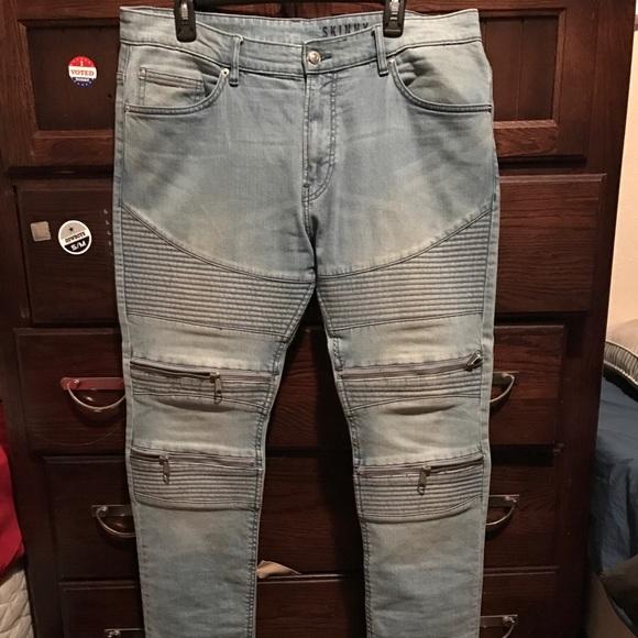 H M Jeans Hm Mens Divided Skinny Fit Biker Poshmark